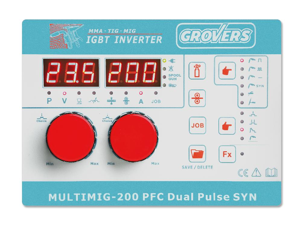 Полуавтомат GROVERS MULTIMIG 200 PFC DUAL PULSE SYN